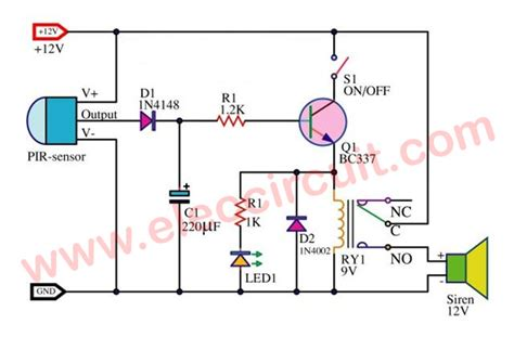 motion sensor diagram wiring diagram with description