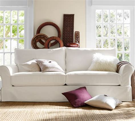 pottery barn comfort sofa pb comfort eco roll arm slipcovered sofa pottery barn