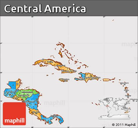 america map version 13p free political simple map of central america cropped outside