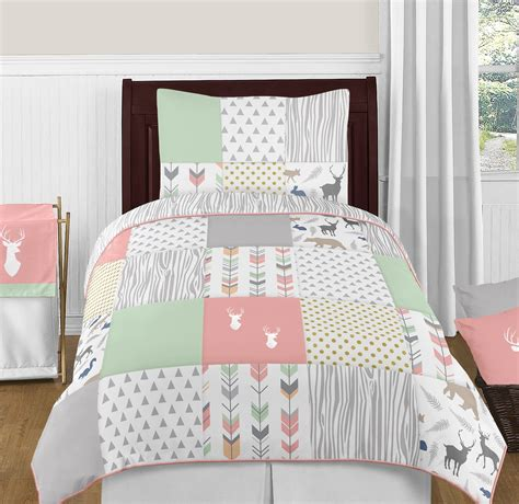 gray and mint bedding mint coral grey gold dot modern woodland arrow girl