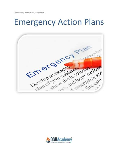 osha emergency action plan template download free