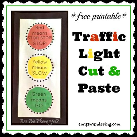 printable road safety games free traffic light cut paste printable traffic light