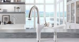 kitchen sinks kitchen faucets and accessories blanco shop blanco torino satin nickel 1 handle handle deck mount