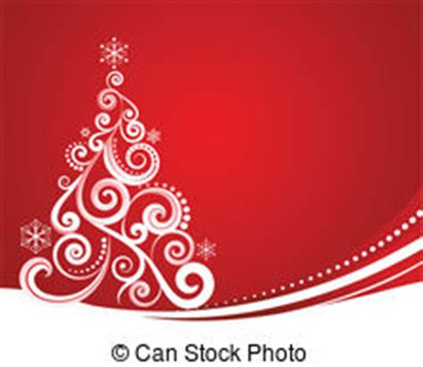 golden christmas tree  red background sketch eps