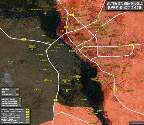 Military Situation In Mosul City On January 23, 2017 ... Iraq 2017