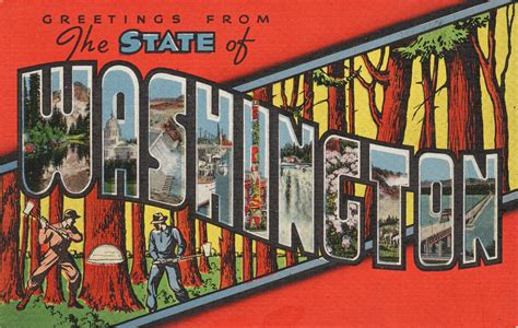 Printable State Postcards | greetings from the state of washington postcard roundup