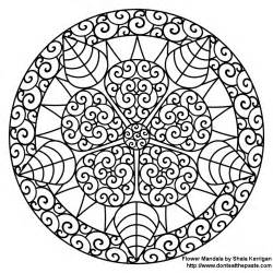 mandala to color don t eat the paste mandalas coloring pages