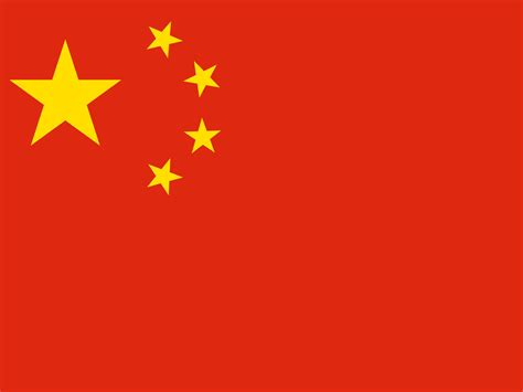 China Flag Ppt Template Ppt Backgrounds Flag Red China Flag Template