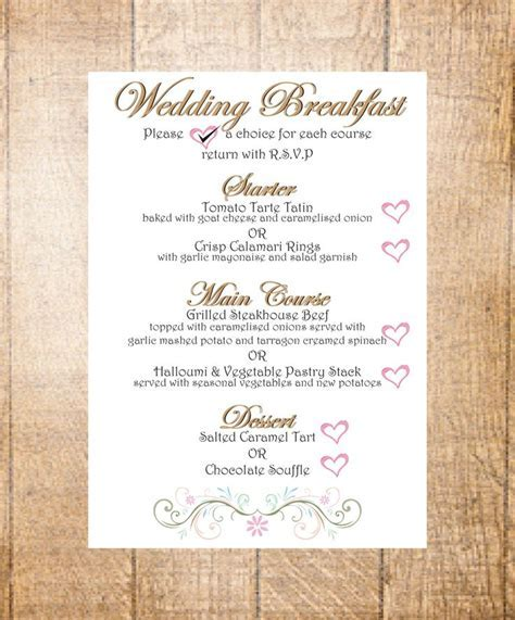 The 25  best Wedding breakfast menus ideas on Pinterest