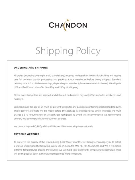 shipping policy template shipping policy template 3 free templates in pdf word