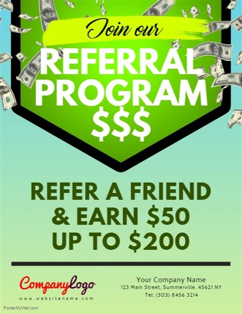 Referral Program Flyer Template Postermywall Referral Program Flyer Template