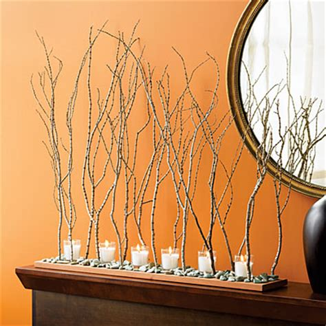 Composizione Rami Secchi by Ashbee Design Hurricane Twigs Become Thanksgiving Centerpiece
