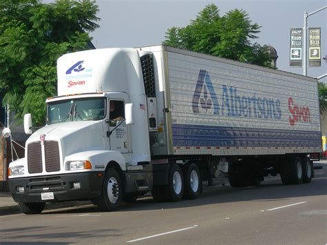 albertsons kenworth truck operated  supervalu subsidiary flickr