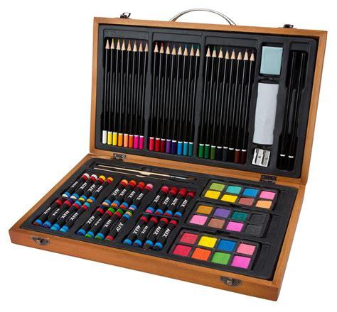 80 piece set includes watercolors pastels colored