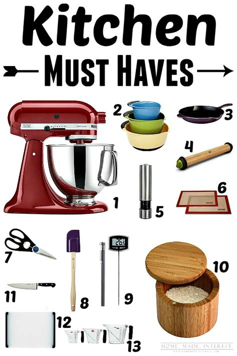 Must Have Kitchen Items That Will Make Your Life Easier!   Home. Made. Interest.