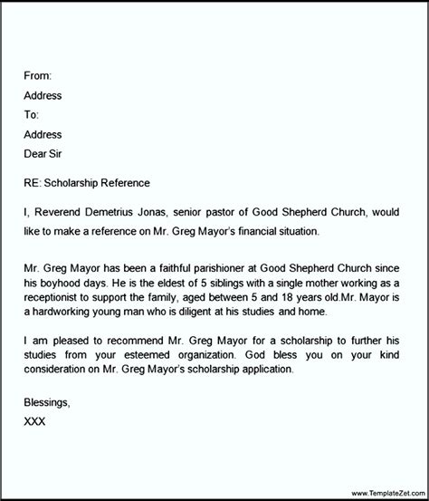 Character Reference Letter Ministry sle of a recommendation letter from pastor cover