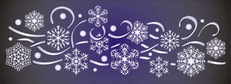 snowflake stencils for windows snowflake border ideal for use with frosting for window displays festive stencil design from
