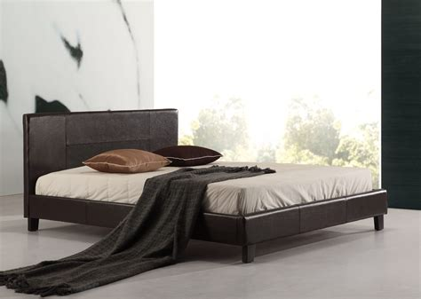 pu leather bed frame pu leather bed frame brown
