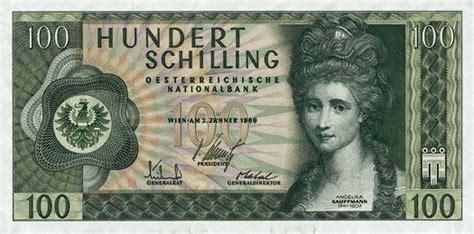schilling bank schilling banknoten der oesterreichischen nationalbank