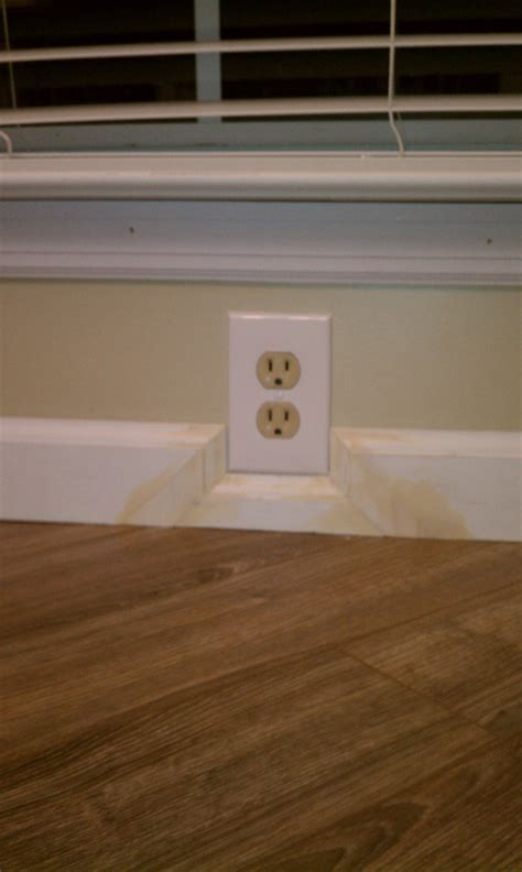 How can I trim around an electrical outlet?   Home