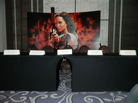 exclusive the hunger games catching fire press