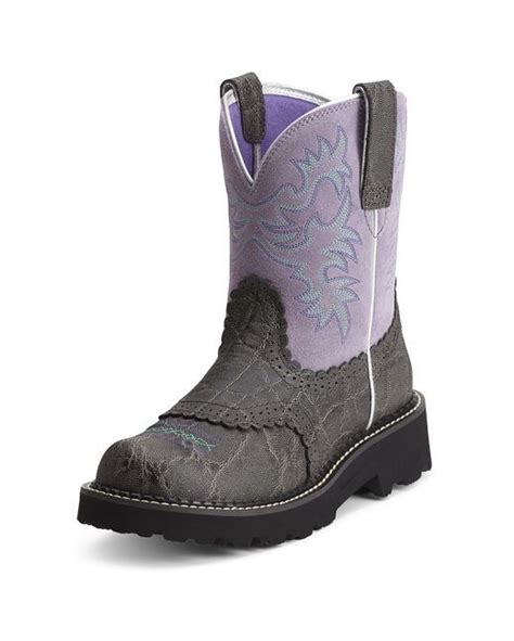 womens ariat fatbaby boots ariat s fatbaby boot charcoal elephant print gray