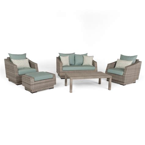 rst brands cannes 5 piece aluminum all weather wicker