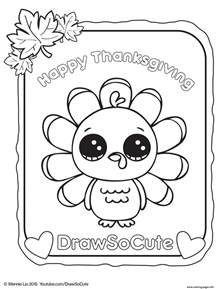 thanksgiving turkey draw cute coloring pages printable