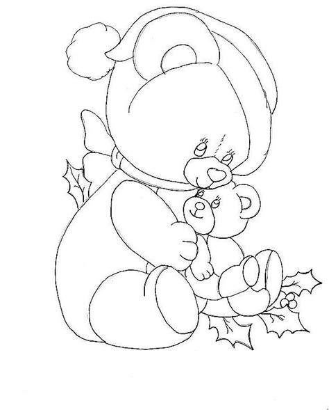 santa bear coloring page christmas bear coloring page coloring home