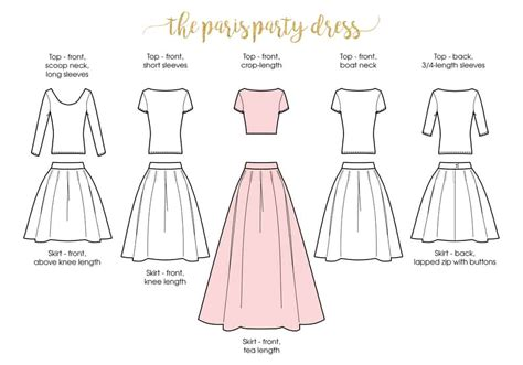 dress pattern layout paris party dress ladies pleated skirt and top xxs to 5xl