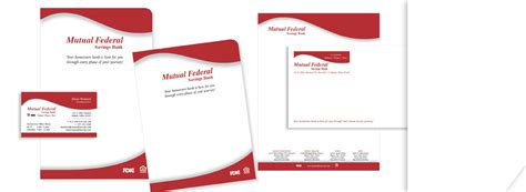 Bank Letterhead Paper Portfolio Federal Savings Behr Design