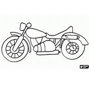 Classic Road Motorcycle Coloring Page  Hudsons Party