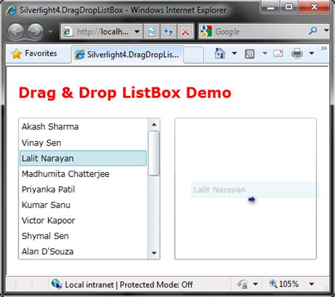 the problem with drag and drop web design how to drag and drop between listbox using silverlight 4