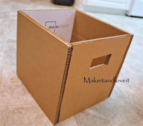 diy storage box craft room part 1 covered cardboard storage boxes