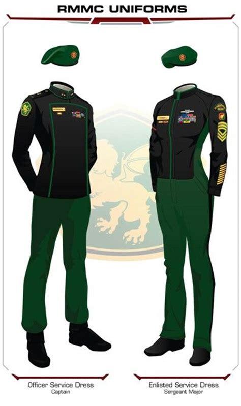 Kemeja Davin Navy royal manticoran marine corps sergeant to sew