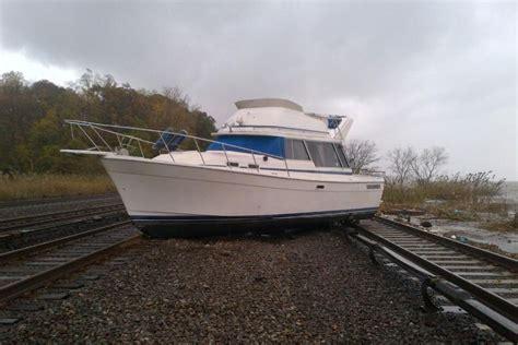 boat radio near me boat on train tracks at ossining new york abc news