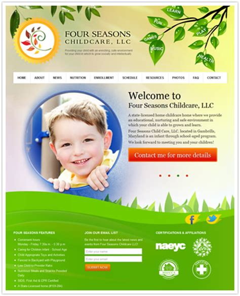 Free Daycare Website Templates Custom Daycare Websites Professional Daycare Websites Child Care Daycare Website Templates Free