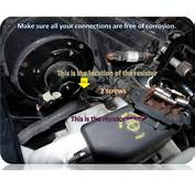 Where To Find Blower Motor Relay Or Resistor  The Ranger Station