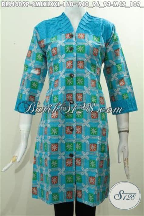 Kain Batik Dan Embos Sb7 Biru batik blus biru desain mewah kwalitas halus bahan