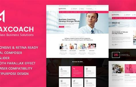 themeforest consulting themeforest maxcoach business consulting wordpress theme