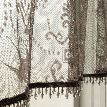 gray lace curtains downton abbey duchess pewter gray lace curtains by