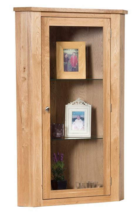 glass door waverly waverly oak low corner unit top with glass door hallowood