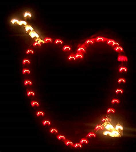 outdoor valentines day lighting