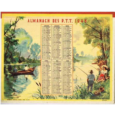 Calendrier Chasse Calendrier Almanach Des Ptt 1948 Peche Et Chasse O