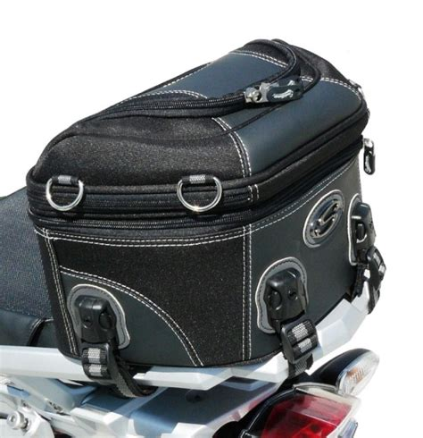 Tas Motor Adventure motorcycle rear rack bag in black gray saddlemen