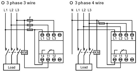 difference between wiring of 3 phase 3 wire and 3 phase 4