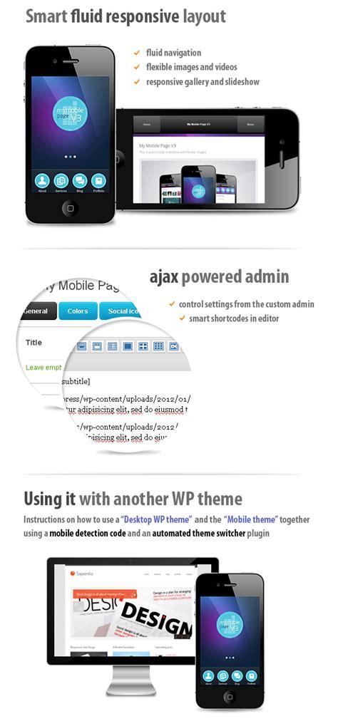 wordpress themes mobile version my mobile page v3 wordpress theme by sindevothemes