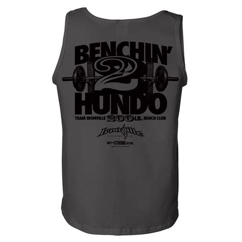 200 bench press 200 pound bench press club standard tank top ironville clothing