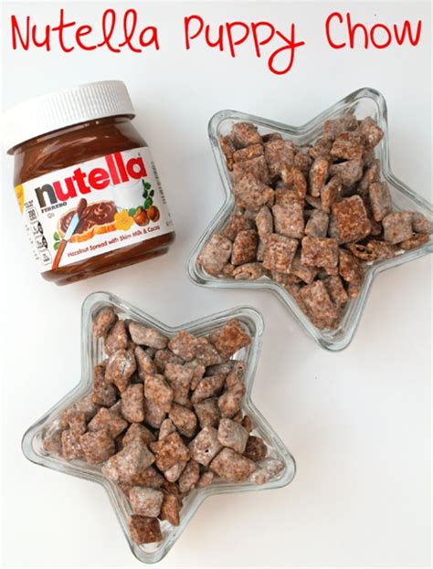 nutella puppy chow nutella puppy chow recipe chefthisup