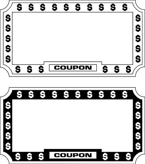 blank coupon template blank coupon clip www imgkid the image kid has it